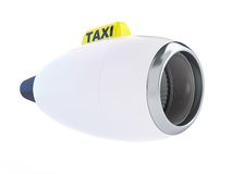 Aircraft engine taxi. On a white background Royalty Free Stock Image