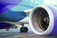 Aircraft engines Stock Photography