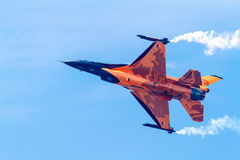Aircraft F-16 Demo Team Stock Images