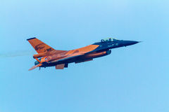 Aircraft F-16 Demo Team Royalty Free Stock Photo