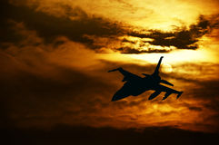 Aircraft fighter Royalty Free Stock Images