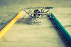 Aircraft fighter with color pencil education learning planner co Royalty Free Stock Photography