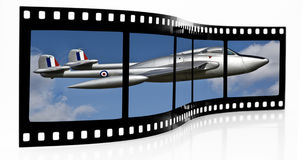 Aircraft film strip Royalty Free Stock Photo