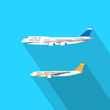 Aircraft Flat Design Style Vector Illustration Royalty Free Stock Images