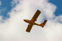 aircraft during flight aviation Royalty Free Stock Image