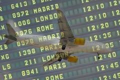 Aircraft Flight Board Stock Photography