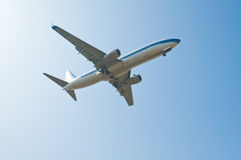 Aircraft. Flying in the sky royalty free stock image