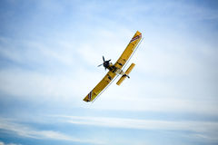 Aircraft is flying in the sky Royalty Free Stock Images