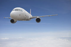 Aircraft flying in sky Royalty Free Stock Images