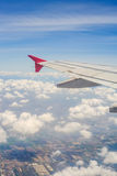 Aircraft flying in the sky Stock Photography