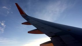 Flying in to the sunset stock video footage