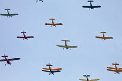Aircraft formation Stock Photo