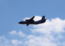 Aircraft  gaining altitude after take-off Royalty Free Stock Photo