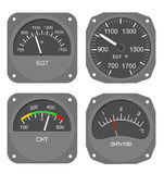 Aircraft gauges (#2) Royalty Free Stock Image