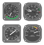 Aircraft gauges (#6) stock photo