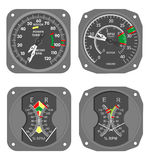 Aircraft gauges (#7) Royalty Free Stock Photos