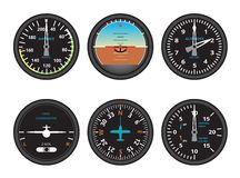 Aircraft gauges Royalty Free Stock Photography