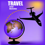 Aircraft and globe Royalty Free Stock Photography