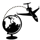 Aircraft and globe Stock Images