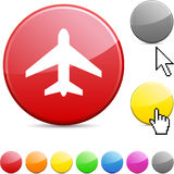 Aircraft glossy button. Royalty Free Stock Images