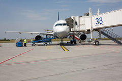 Aircraft on the ground Royalty Free Stock Photos