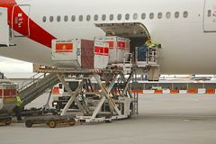 Aircraft Ground Handling Royalty Free Stock Images
