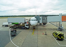 Aircraft ground handling Royalty Free Stock Photography
