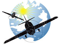 Aircraft grunge icon Royalty Free Stock Images