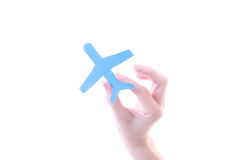 Aircraft in hand Royalty Free Stock Photo