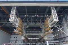 Aircraft hangar royalty free stock images