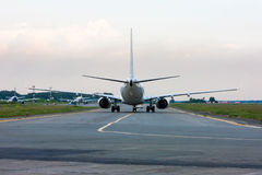Aircraft heading to follow me car. Airplane heading to follow me car royalty free stock photography