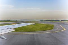 Aircraft heading to runway Stock Image