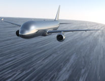 Aircraft at high speed Stock Photography