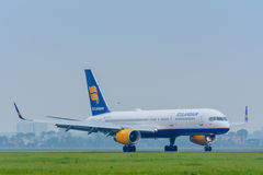 Aircraft Icelandair Boeing 757 TF-FIV is landed at the airport. Royalty Free Stock Photography