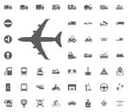 Aircraft icon. Airplane icon. Transport and Logistics set icons. Transportation set icons.  Royalty Free Stock Image