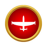 Aircraft icon in simple style. On a white background Stock Images