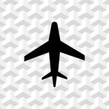 Aircraft icon stock vector illustration flat design. Icon stock vector illustration flat design style Royalty Free Stock Photography