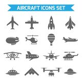 Aircraft Icons Flat Stock Photos