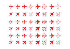 Aircraft icons Stock Photos