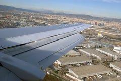Aircraft illuminator window view Stock Image