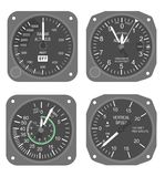 Aircraft instruments set #2 Stock Photo