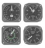 Aircraft instruments set #2 stock illustration