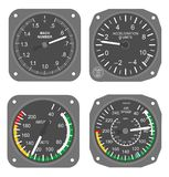Aircraft instruments set #3 Stock Photography