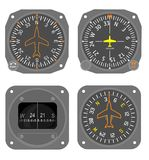 Aircraft instruments set #4 Stock Photos