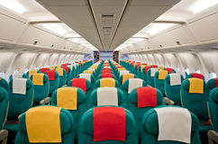 Aircraft interior Royalty Free Stock Image