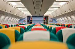 Aircraft interior Royalty Free Stock Images