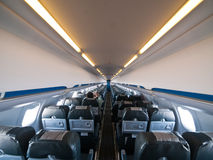Aircraft Interior. Small Aircraft Interior wide angle photo stock photo