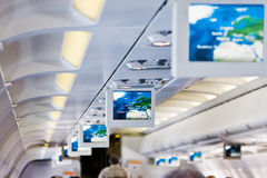 Aircraft interior Royalty Free Stock Photography