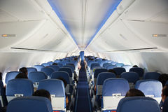 Aircraft interior Stock Image