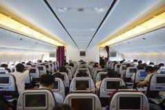 Aircraft interior Royalty Free Stock Photo